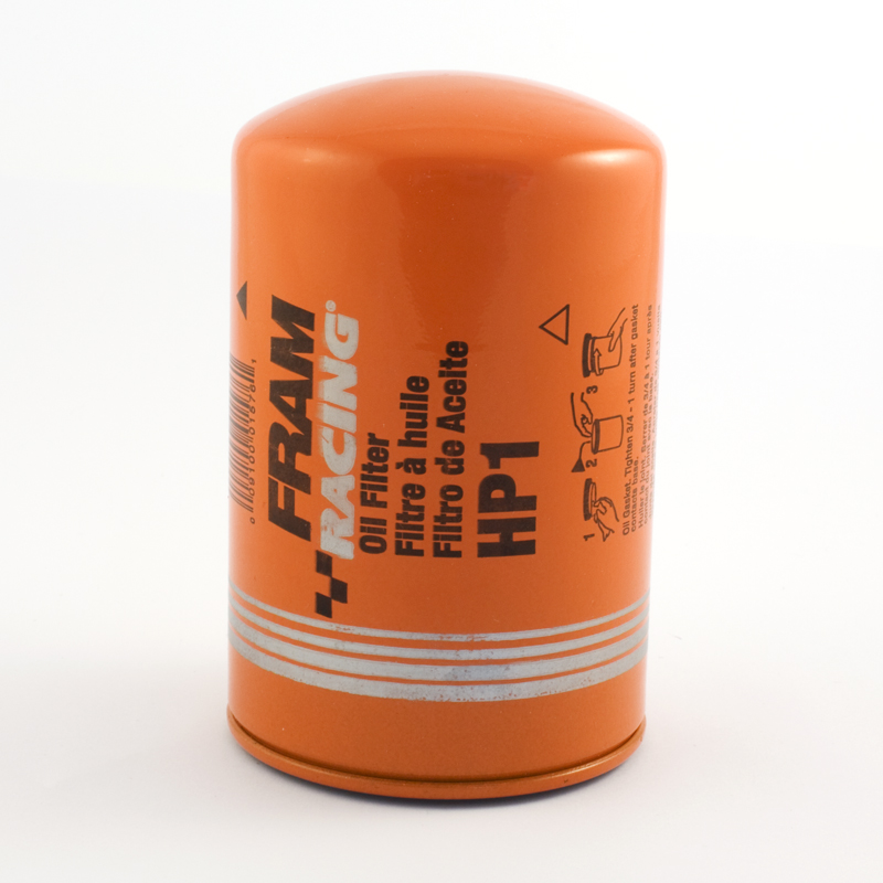 fram racing hp1 engine oil filter for high performance racing removes impurities from the car